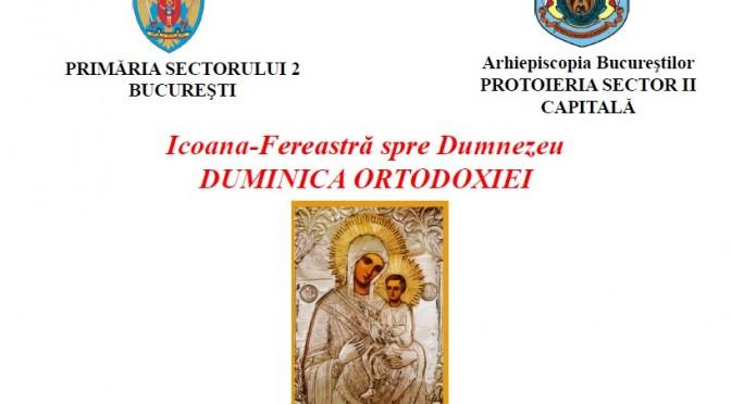 Parohia Icoanei – ICOANA – FEREASTRĂ SPRE DUMNEZEU,  28 februarie – 5 martie 2017 PROGRAM DESFASURARE EVENIMENTE